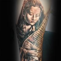 Liquid Silver Tattoo on Hoddle