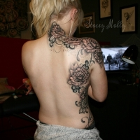 Liquid Silver Tattoo on Hoddle - Intricate dotwork tattoo