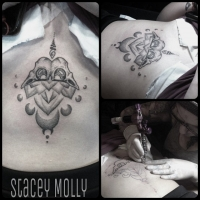 Liquid Silver Tattoo on Hoddle Stacey Molly Dotwork Mandalay